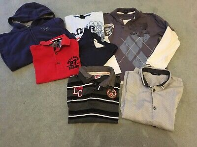 boys Clothing bundle tops T-shirts age 9-10 years clothes 7 Items