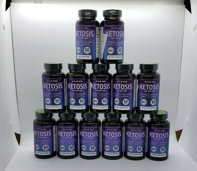 New Keto by Hans Ketosis The Fast Way 60 Caps Each Exp 02/2021 LOT OF 13 Bottles