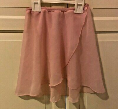 Girls 1st Position Pink Wrapover Chiffon Ballet Skirt Size Waist Size 18 inches