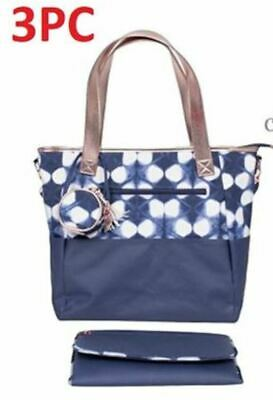 NWT• Cloud Island Shibori Diaper Tote Bag 3 piece set Blue