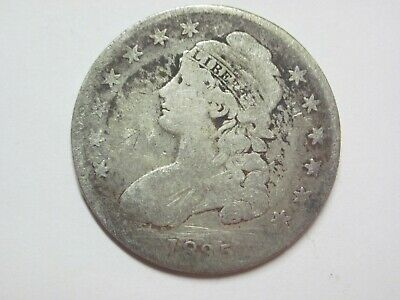 Circulated Uncertified Early Silver 1835 Capped Bust Half Dollar Ungraded