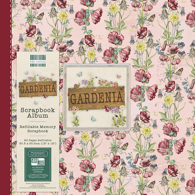 """First Edition Gardenia x 12"""" Flowers 10 Inserts – Holds 20 Pages-Snap-Load Techn"""