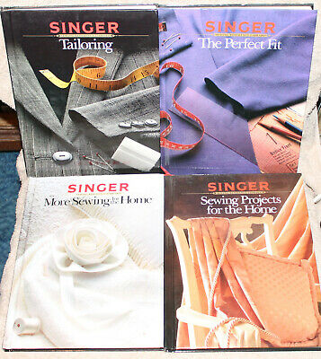 Lot Of 9 Singer Sewing Reference Library Books Tailoring Perfect Fit Home +