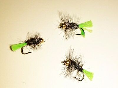 Brown  Wet Fly 12 Trout Choc #10 BH Rubber Grub Crappie Pan Fish,