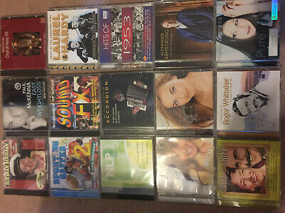 Joblot Collection of 56 Music CDs & 50 Mixed games CD Roms and DVD - Can Collect