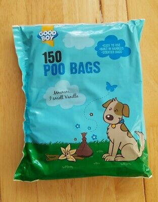 Good Boy - X1 pack of Vanilla Scented Doggy Poop Bags - 150 bags per pack