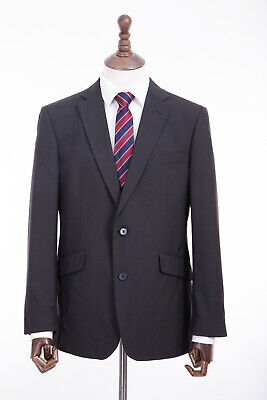 Mens Limehaus Charcoal Grey Tailored Fit Suit 42R W36 L31