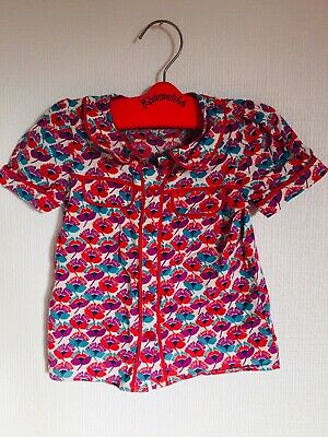 Next Girls Floral Print Blouse Age 2-3