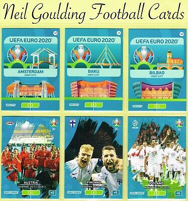 Panini EURO 2020 ☆ HOST CITY/MAGIC MOMENT Adrenalyn XL Football Cards #10 to #27