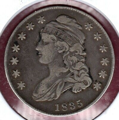 1835 Capped Bust Half Dollar Grades A Strong Very Fine Nice!! #C2451