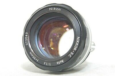 Nikon Nikkor-S.C Auto 55mm F/1.2 Ai-Converted MF Lens SN272043 *As-Is*