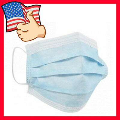 200 PCS 3-layer Disposable Medical Masks Dental Mouth Face at least 99% of bacte