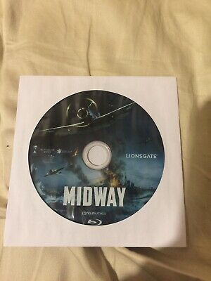 Midway (2020) Blu-ray Disc Only, comes in a paper sleeve. NO DVD NO DIGITAL CODE