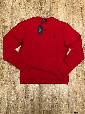 Ralph Lauren Crew Neck Jumper – Slim Fit – Red – XL