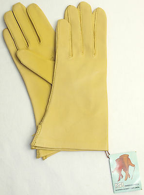 Gloves Leather Women Rsl Leather Finger without Lined Sun Yellow 6 3/4