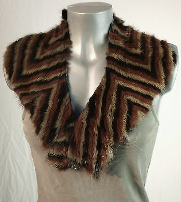 Scarf Collar Mink 3 Coloured fur Collar Sew Handcrafts fur F. Coat Multicoloured