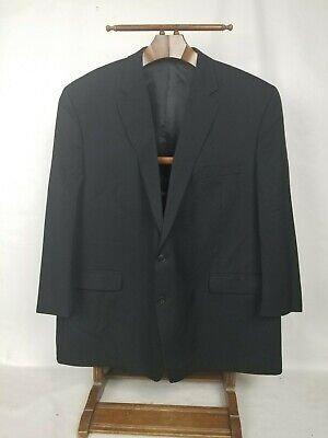 Chaps Mens Black Size 56L 100% Wool Center Vented Coat Jacket
