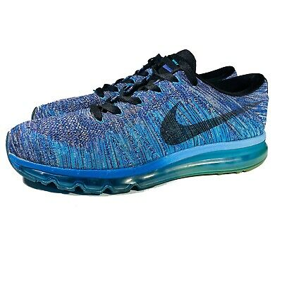 Nike Air Flyknit Max 2014 Men's Blue/Purple Runners Shoes 620469-500 Size 11