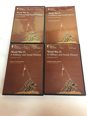 The Great Courses War and World 2 History audio CDs & Guidebook