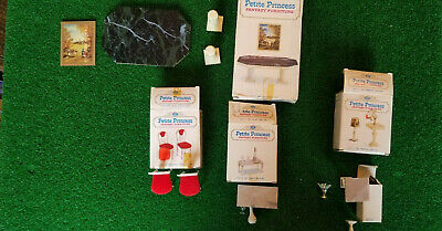 Vintage IDEAL Petite Princess Dollhouse Furniture With Boxes-LOT