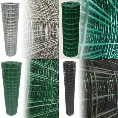 PVC Coated Wire Mesh Fencing Green/Anthracit/Black/Galvanised Garden Fence