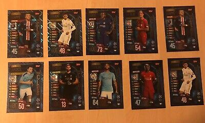 Match Attax 2019/20 19/20 UEFA Champions League 30 Bundle Cards, 2 X 100 Club.