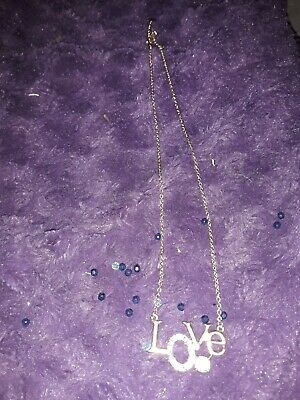 Claire's Girl's  Love Script Pendant Necklace good condition
