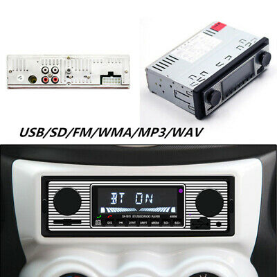 Auto Bluetooth Retro Radio Stereo Cruscotto Lettore Integrato MP3/ USB/ SD/ Fm/