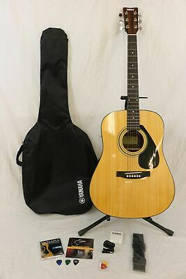 Yahama FD01S 6-String Acoustic Guitar w/ Strap In Bag w/ Accessories