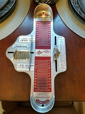 Vintage Ralyn PW Minor Womens Shoe Foot Sizer Tool Foot Measuring Device