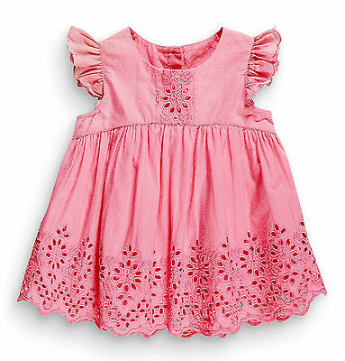 •••BNWT NEXT Girls Tunic Top • Pink Embroidered Blouse • Cotton • 6-9 Months