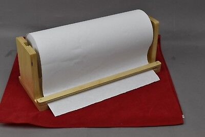 Wooden Tabletop Paper Holder Center Roll Scrapbooking Meat Wrapping
