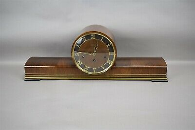 Art Deco Hermle Mantle Clock Wood Germany Pearl Grandfather Clock Movement Wind