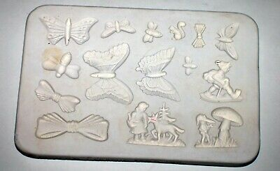 "1963 Duncan Ceramics Press Mold  PPM #17 ""Butterflies, Bows,Bees,Children"""