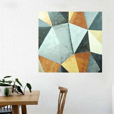 Abstract Hand Painted Art Oil Painting Canvas Modern Home Decor Framed - Rhombus