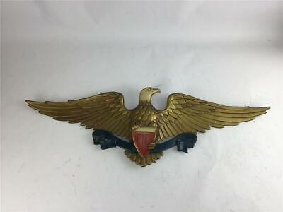 """Sexton Cast Metal American Eagle With Shield Wall Plaque 26 3/4"""" Long"""