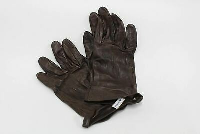 ASPINAL OF LONDON Ladies 100% Silk Lined Brown Leather Gloves Size 6.5 NEW