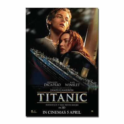 TITANIC Movie Leonardo DiCaprio RARE Art Poster Hot Gift canvas print 24x36 12x8