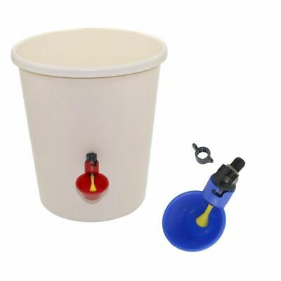 Chicken Drinking Cup Automatic Feeder Plastic Poultry Water Drinker With Screws