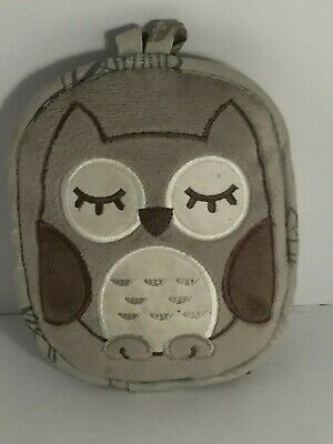 💛 Eddie Bauer Gray Soothing Vibrations Owl Crib Vibrating Soother Portable
