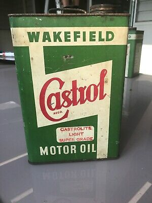 Vintage Castrol One Gallon Motor Oil Tin In Good Condition