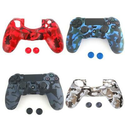 Game Pad Protective Case Guards Grip Cover+2 Joystick Caps For Playstation 4 PS4