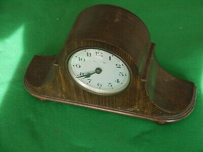 NICE ANTIQUE German Gustav Becker Oak Cased CHIMING Mantel Clock