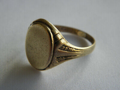 LOVELY VINTAGE ASTRON CHARIER SIGNET RING EARLY 20th CENTURY ~ Size R 1/2