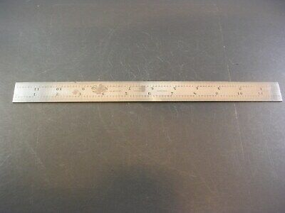 STARRETT 12 In Hardened Grooved Blade Rule No. 4R - for Protractor Square B12-4R