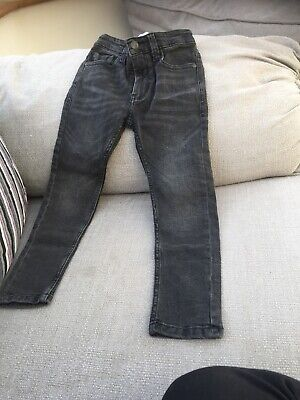 Faded Black Boys Skinny Jeans From Next Age 6