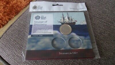 Rmint 2019 Uk Captain Cook's Voyage  Certified Bu £2 Two Pound Coin Sealed Pack