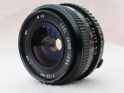CARL ZEISS 28mm F2.8 WIDE ANGLE LENS IN OLYMPUS OM MOUNT - EXCELLENT QUALITY!