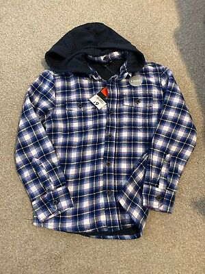 BNWT George Boys Hooded And Fully Lined Shirt Aged 6-7 Yrs
