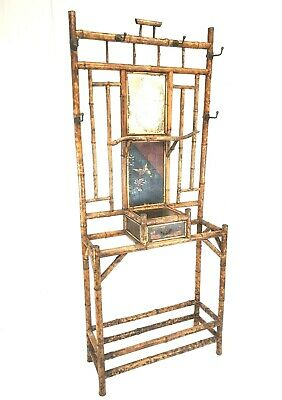 Wonderful Oriental Antique Bamboo Hat & Coat Hall Stand